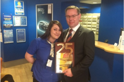 Arnold Clark Aberdeen Toyota wins award for 25 years of service