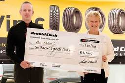 Winners of 'Buy a Tyre, Win £1000' competition