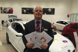 Arnold Clark sales executive Joe Bunting goes for gold with the KIA Academy