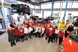Ingram School pupils visit Leeds Motorstore