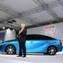 Toyota's Mirai is one of the first fuel cell vehicles to be sold commercially. It was first released in Japan.