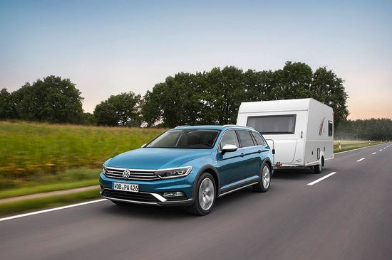 The Volkswagen Passat Alltrack is an excellent choice for caravanners