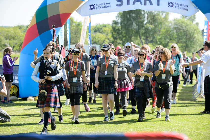 Expect to see a vast array of tartans at the Kiltwalk