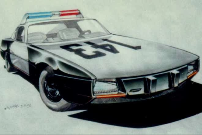 Concept to creation original movie car design sketches robert webb police car robocop 1987 malvernweather Image collections