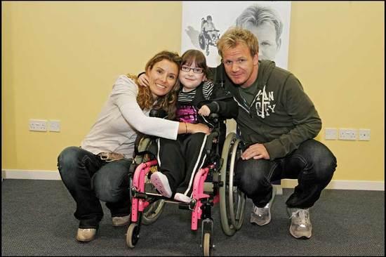 Demi with SBH Scotland honorary patrons Gordon and Tana Ramsay