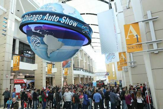 The crowds arrive for the Chicago Auto Show.
