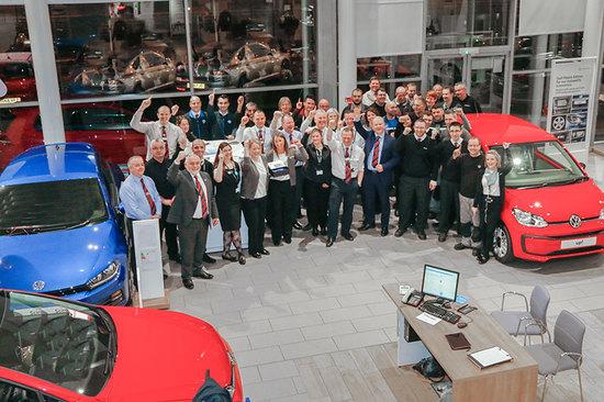 The team at Volkswagen Wishaw