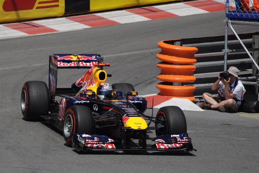 Sebastien Vettel at the Monaco Grand Prix in 2011. Image via Wikimedia Commons.