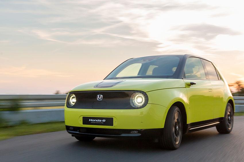 The all-new Honda e prototype.