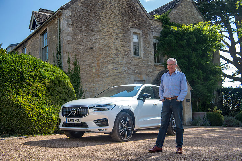 Jim McGill with the Volvo XC60 B4 Diesel.