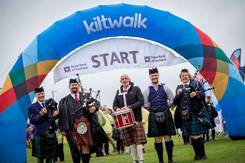 The Kiltwalk start line.
