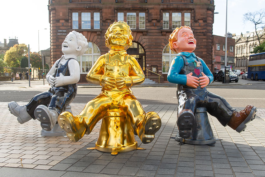 You can see Oor Wullie in five cities across Scotland.