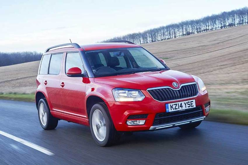 The ŠKODA Yeti is in our list of the top small 4x4s to buy in 2015
