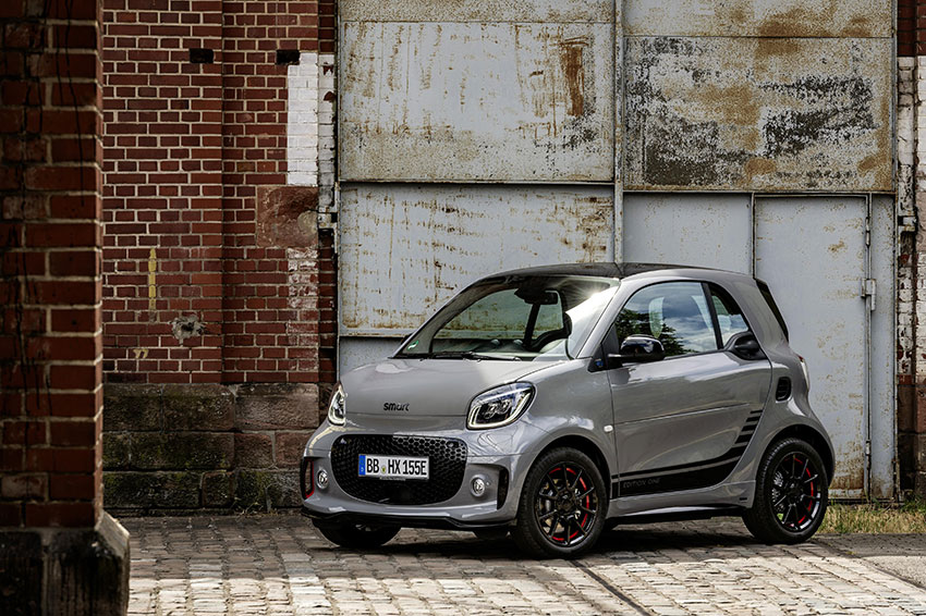 Meet the smart EQ fortwo coupé.
