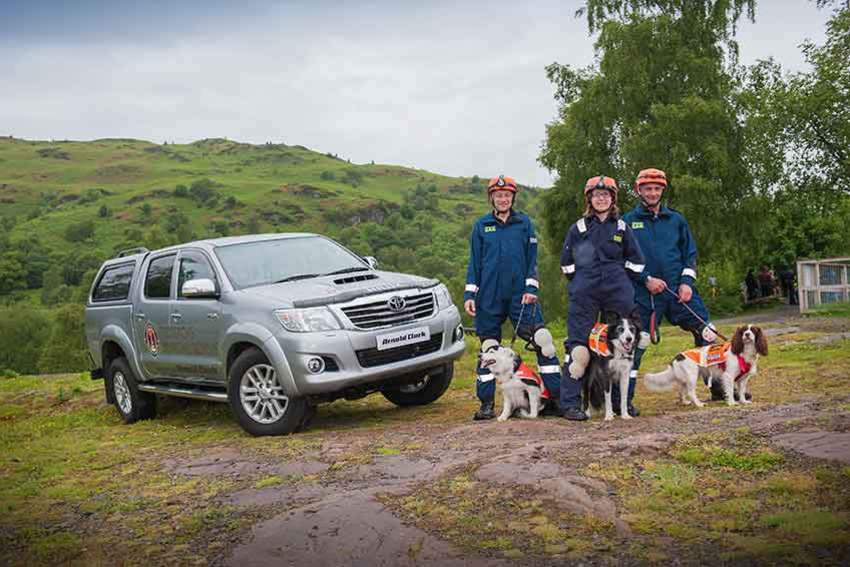 Trossachs Search and Rescue Team with their new Hilux