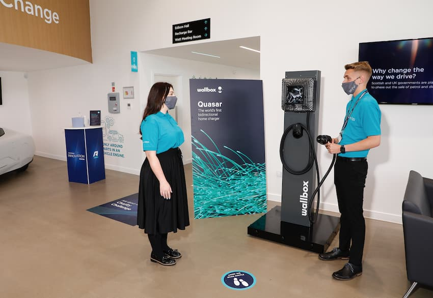 The Wallbox on display at the Innovation Centre