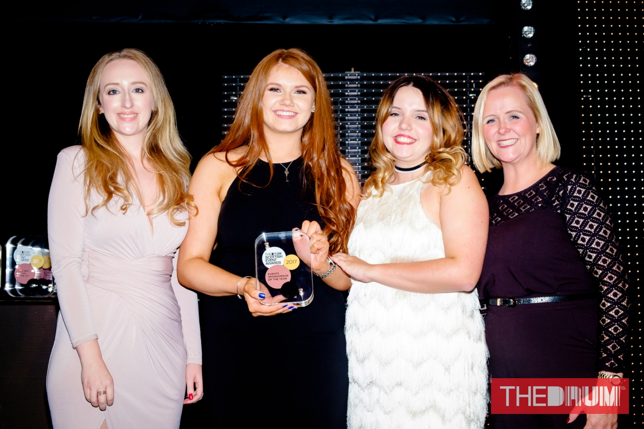 Our events team collecting their award.