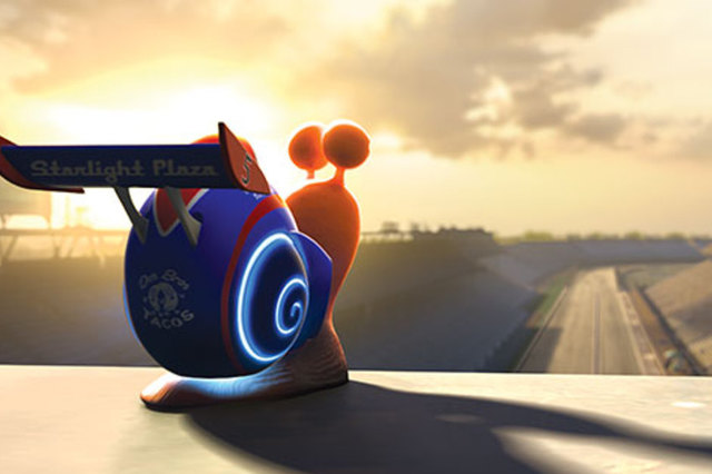 In the run up to the film's release, Chevrolet will feature Turbo the snail in its TV ads