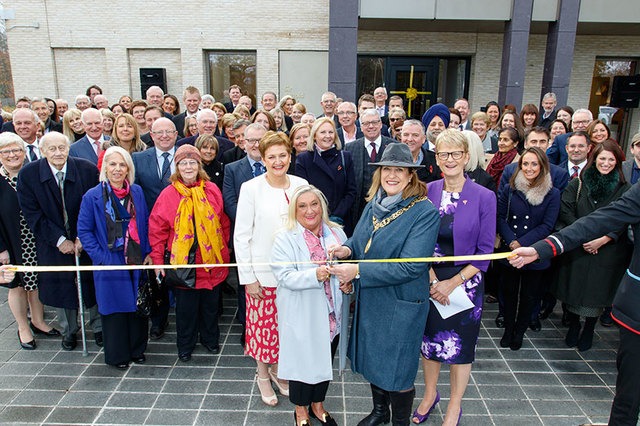 Lady Clark opening the Prince & Princess of Wales Hospice with the Lord Provost Glasgow