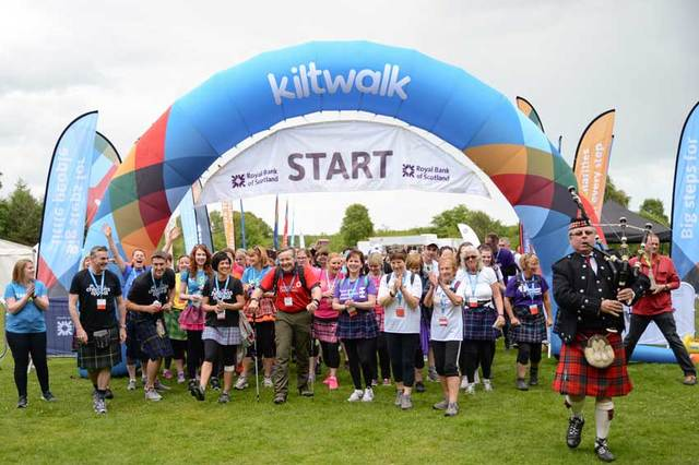 14,000 people participated in the Kiltwalk in 2017.