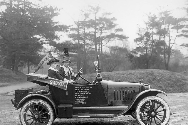 In 1910, just 5% of licensed drivers were women. Today, in most countries women are as likely to own a car as men. Image: Michigan Government