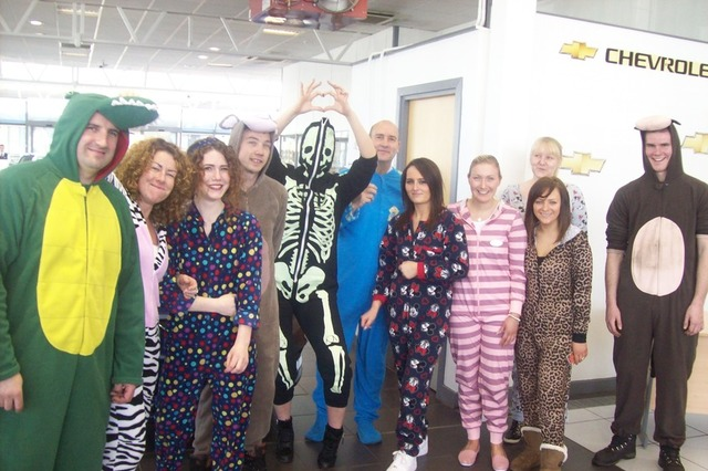 fc55a5b61bfd4 Staff at Linwood sported various forms of onesie, ranging from animal print  to skeleton designs