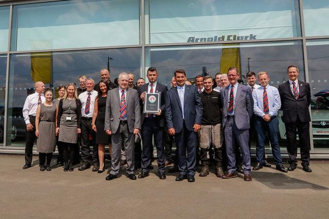 Hamilton Road Vauxhall Team receive their Customer Excellence Awards
