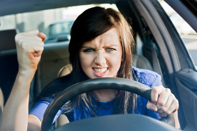 YouGov stats reveal that 32% of people are subject to road rage more than once a week. Image courtesy of RapidEye