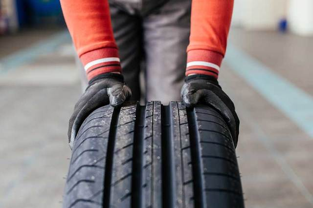 It's illegal for your tyre's tread depth to fall below 1.6mm