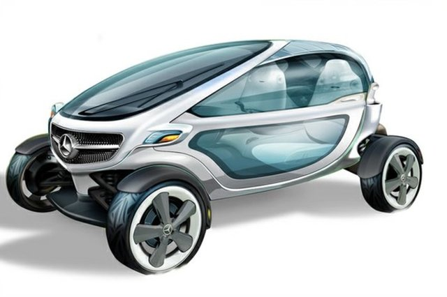 The Vision is an electric golf cart with all mod cons - an iPod dock, solar panel roof and even a fridge