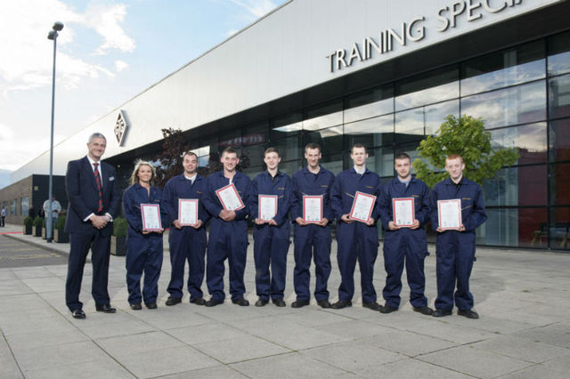 Eight students completed the training course and were offered apprenticeships