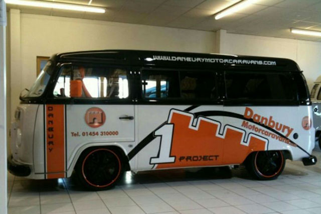 Project 1 is a revamped Volkswagen T2, complete with Porsche alloys and tinted windows