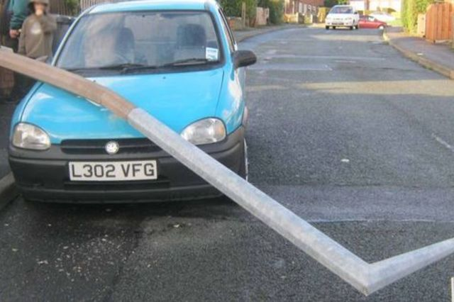 Driving in Scotland? You're more likely than most to bump into a lamppost. Image: Examiner.co.uk