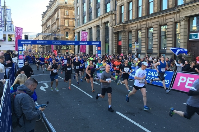 Runners at last year's Great Scottish Run.