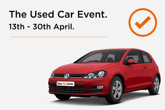 Don't miss the Volkswagen Used Car Event