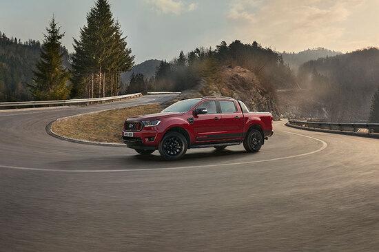 Resplendent in red: the new Ford Ranger Stormtrak