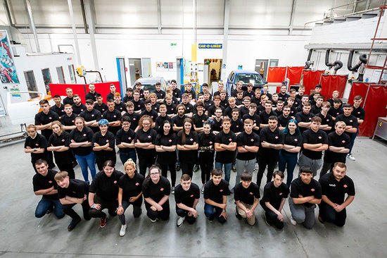 Apprentices assemble at GTG Glasgow.