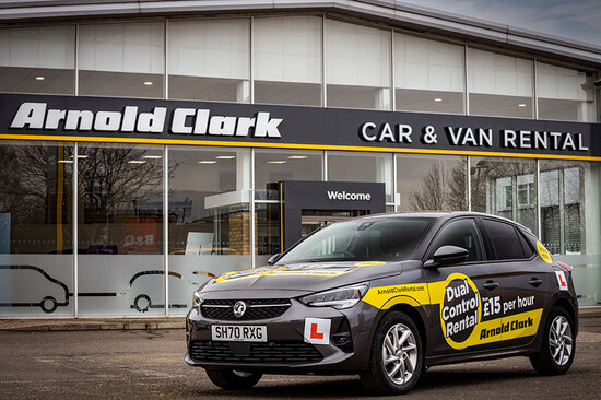 You can hire a dual control car from one of over 30 Arnold Clark Car & Van Rental branches.
