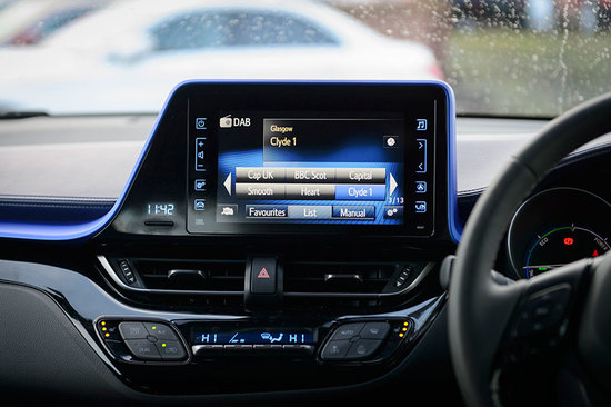 The infotainment system in the new Toyota C-HR.