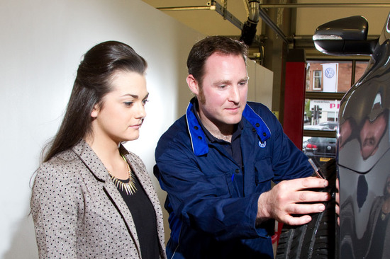 Arnold Clark offers a free tyre safety check at all of our service branches - you can book this online.