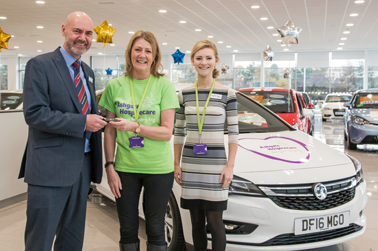 The moment the 15-plate Vauxhall Astra  was handed over
