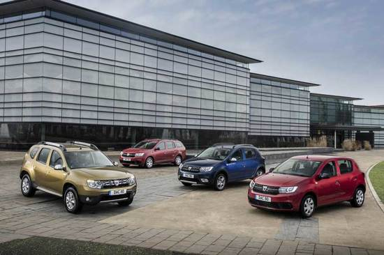 The Dacia range.