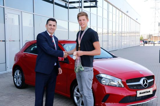 Duncan collected his car at Arnold Clark head office.