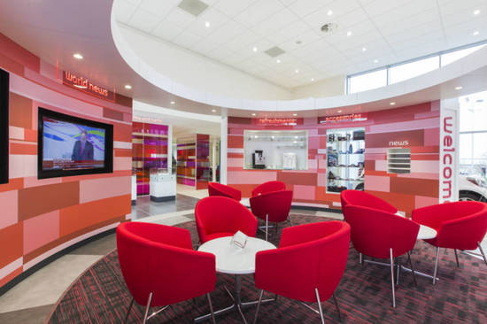 The brand new branch boasts free WiFi and a very cool waiting area...
