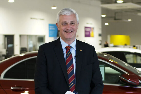 Arnold Clark Chief Executive and Group Managing Director, Eddie Hawthorne.