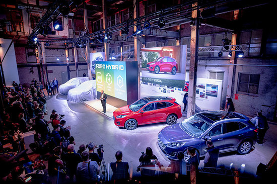The latest Ford electric cars were unveiled in Amsterdam.