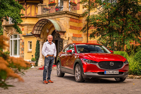 Jim McGill with the new Mazda CX-30.