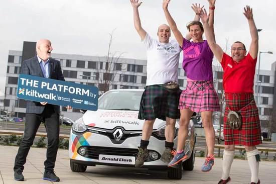 Sir Tom Hunter helps launch the Kiltwalk 2017