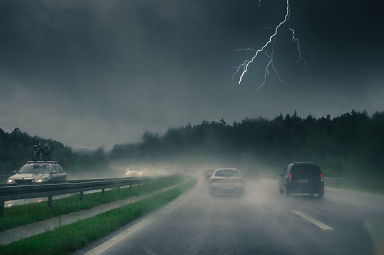 Weather warnings have been issued in the UK for thunder and lightning storms