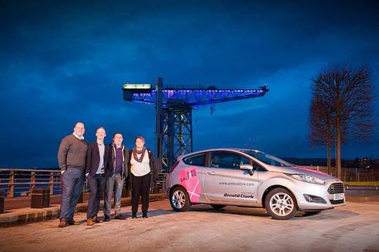 The Pink Saltire team